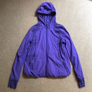 Other - Ivivva Purple striped reversible jacket